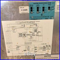Civilware EFP-65 Electric 3 Phase Dual Basket Floor Deep Fryer