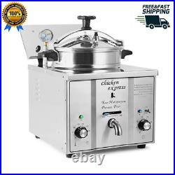 Commercial 2400W Electric 16L Pressure Deep Fryer Food Chips Potato Chicken Oven