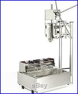 Commercial 3L Churros maker machine with 12L Electric Liters Deep Fryer 6L Elec