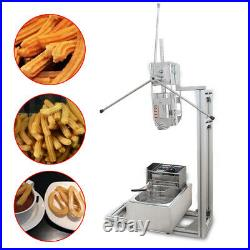 Commercial 3L Churros maker machine with 6L Electric Liters Deep Fryer