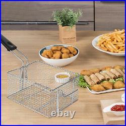 Commercial Countertop Double Screen Electric Fryer 2 Baskets Deep Fryer 11L2