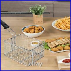 Commercial Countertop Electric Fryer 2 Baskets Dual Deep Fryer 11L2 Restaurant