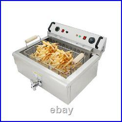 Commercial Deep Fryer 30L Electric Oil Fryer Removable Basket 110V