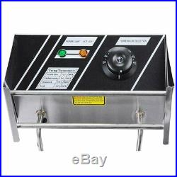 Commercial Deep Fryer Electric Countertop Stainless Steel 2 Tank Cover Strainer