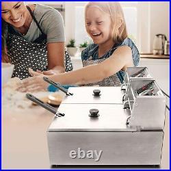 Commercial Deep Fryer Electric Fryer Baskets 3600W 12.7QT Countertop Deep Fryer