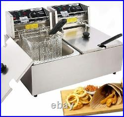 Commercial Deep Fryer for the Home with Dual Basket 3600W 12L Capacity Tank