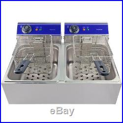Commercial Double Tank Electric Deep fryer for Restaurant Catering Easy Clean