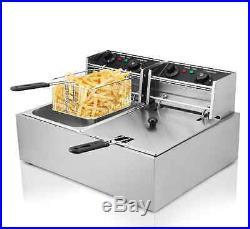 Commercial Dual Tank 20L 5000W deep fryer kitchen maker Electric Deep Fryer