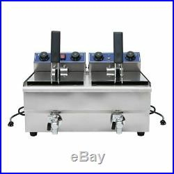 Commercial Electric 20L Deep Fryer with Timer Drain Stainless Steel French Fry BT