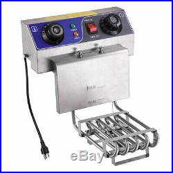 Commercial Electric 23.4L Deep Fryer Dual Tank with Timers and Drains French Fry
