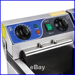 Commercial Electric 23.4L Deep Fryer with Timer Drain Stainless Steel French Fry