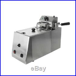 Commercial Electric Auto-Lift Deep Fat Chips Fryer 10L Stainless Steel With Timer