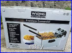 Commercial Electric Countertop Deep Fryer 8.5 Lb Stainless Steel