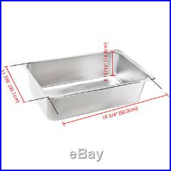Commercial Electric Countertop Deep Fryer Stainless Steel Single Large Tank Bask