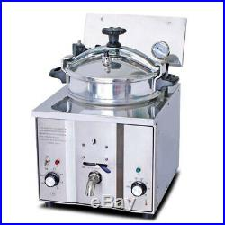 Commercial Electric Countertop Pressure Fryer Stainless Chicken Fish 16L