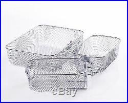 Commercial Electric Deep Fryer Basket Stainless Steel Countertop Tank Restaurant