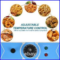 Commercial Electric Deep Fryer French Fry Bar Restaurant Tank Basket New
