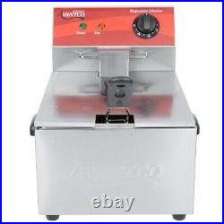 Commercial Electric Deep Fryer Home Countertop Stainless Steel French Fry Basket