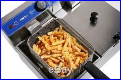 Commercial Electric Deep Fryer Professional French Fries 2x5L 4.4kW