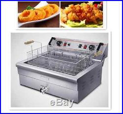 Commercial Electric Deep Fryer Single tank 220V/4.8KW 20L with timer