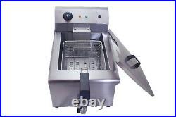 Commercial Large Chip Fryer 19 Litre tank Electric Single Basket Deep Fat Fryer