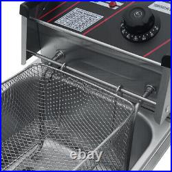 Commercial Oil Cylinder Electric Deep Fryer French Fries Frying Machine Grill US