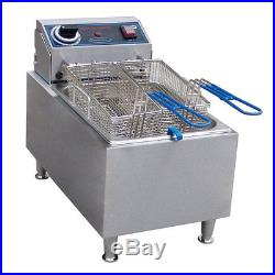 Commercial Restaurant Deep Fryer With Basket Electric Countertop Pro 10 Pound