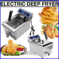 Commercial Restaurant Electric 10L Deep Fryer Stainless Steel with Timer Drain BE