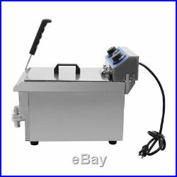 Commercial Restaurant Electric 11.7L Deep Fryer Stainless Steel with Timer Drain B