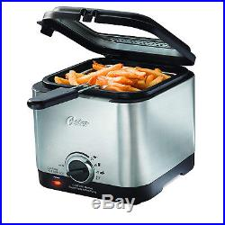 Compact Deep Fryer Stainless Steel 1.5 liter Electric Kitchen French Frying 900W