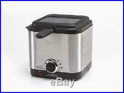 Compact Electric Deep Fryer Adjustable Temperature Large Window View Monitoring