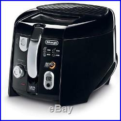 Cool-Touch Deep Fryer Non Stick interior Detachable Cord Easy DeLonghi Roto