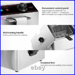 Countertop Electric Deep Fryer Dual Tank 5000W Home Restaurant Commercial Cafes