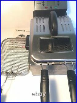 Cuisinart CDF-230 4 Quart Digital Deep Fryer Stainless Tested. Very Good