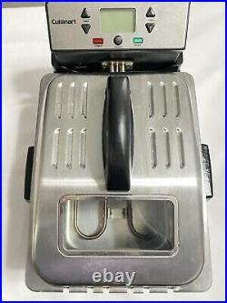 Cuisinart CDF-230 4 Quart Digital Deep Fryer Stainless Tested. Very Good WithBox