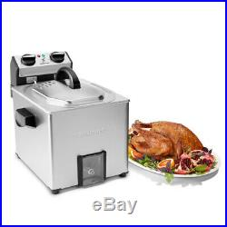 Cuisinart CDF-500 Extra-Large Rotisserie Deep Fryer, Silver with Accessories