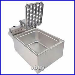 DULONG Commercial Electric Deep Fryer Countertop Stainless Steel Deep Fryer with