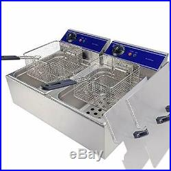 DULONG Commercial Electric Deep Fryer with Temperature Control Large