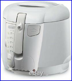 DeLonghi Deep Fryer Electric Frying Kitchen Non Stick Cool Touch 2L Fry White