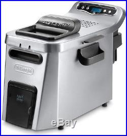 DeLonghi Dual Zone Digital Deep Fryer Stainless Steel Removable Fry Bowl