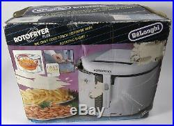 DeLonghi Roto Fryer Plus D20 Deep Fryer Vintage NOB