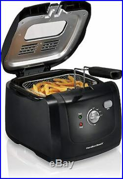 Deep Fryer Cooker Vintage Electric Basket Hooks Automatic Model Lid View Style