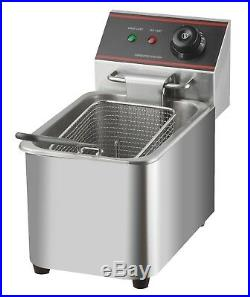 Deep Fryer Electric Single Tank With Thermostat 220 240 V Commercial