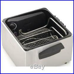 Deep Fryer Stainless Steel Dual Basket ProFry Immersion Element Chicken Fish USA