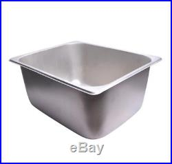Deep Fryer Tank 5000W 12L Dual WithBaskets Stainless Steel Commercial Residential