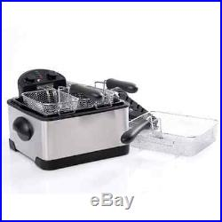 Deep Fryer With Basket Deep Fat Fryers For Home Countertop 3 Basket Stainless