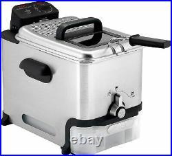 Deep Fryer with Basket, Stainless Steel, Easy to Clean Deep Fryer
