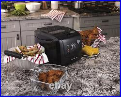 Deep Fryer with Cool Touch 8 Cup Black Basket Kitchen Hamilton Beach 35021 New