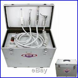 Dental Portable Turbine Unit+Air Compressor+3 Way Syringe+High Low Handpiece Kit