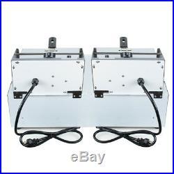 Dual Tanks Electric Deep Fryer Commercial Tabletop Fryer+Basket Scoop+Lid US/CA